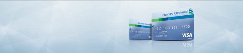 standard chartered visa debit card pakistan